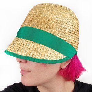 Eugenia Kim 60's Retro Style Straw Cloche Hat